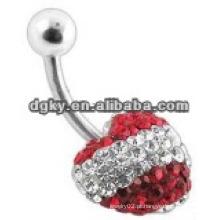 Corpo piercing flutuante barriga anéis jóias