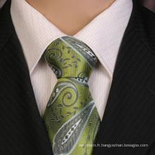 Cravate en jacquard 100% soie faite main