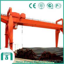 Grue à portique à double poutre avec capacité de 10 tonnes à 50 tonnes