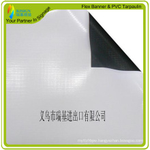 Laminated PVC Blockout Banner, Black/White Banner