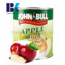 Paladar maçã fresca em latas
