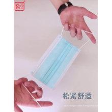 Masque facial jetable chirurgical en tissu non tissé 3 plis