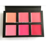 6 colors liquid lipstick pink color lip cream lipgloss palette book pattern lip palette