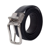 Elegant reversible buckle leather fashion belt