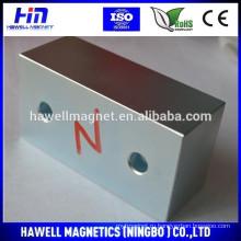 Блочный магнит с отверстиями / N35 n38, n42 для магнитного магнита-сепаратора