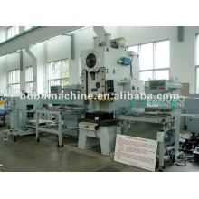 Production line for automatic blanking, forming, drawing