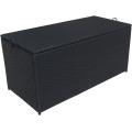 Wicker Cushion Storage Box For Furniture Patio Garden