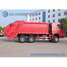 Camion à ordures de compacteur de HOWO 3axles 6X4 15m3