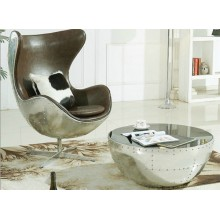 Silla aluminio huevo silla pelotita silla estudio salón