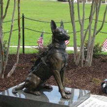 Escultura de perro de bronce de tamaño natural de alta calidad