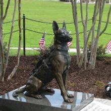 Sculpture de chien en bronze animal de haute qualité grandeur nature