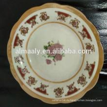 подгонянная напечатанная конструкция фарфоровая глубокая тарелка
