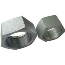 Tuercas hexagonales de acero al carbono y placa de zinc