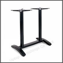 Pedestal de table en fonte noire pour table rectangulaire (SP-MTL192)