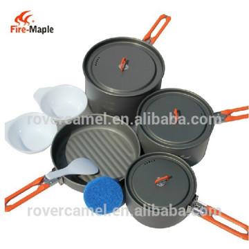 Fuego arce fiesta-5 4-5 persona alta calidad ollas cookware High-End durable metal cookware que acampa