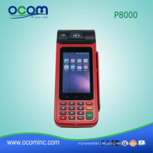 P8000: hot portable mobile pos android all in one
