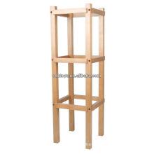 Soporte de madera para 12 marcos de vestir Montessori juguetes de madera