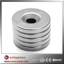 Imán del neodimio de la tierra rara / imán del anillo N50 D100X10X10mm Imán del neodimio del imán NdFeB / industrial China