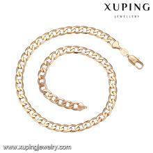43556 xuping simples top quality longo fio de seda cadeias colar de imitação de jóias pesadas