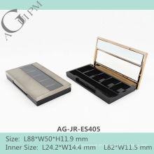 Cinco grade retangular sombra de olho caso com espelho & janela AG-JR-ES405, embalagens de cosméticos do AGPM, cores/logotipo personalizado