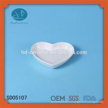 Фарфоровая форма для сердца, керамическая закуска, блюдо для формы сердца, керамическое блюдо