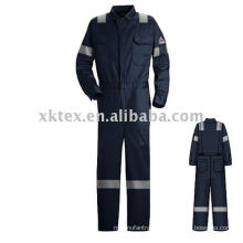 fire resistant safety coverall with tape
