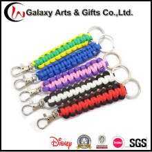 Factory Direct Wholesales Polyester Paracord Lanyard with Keychain