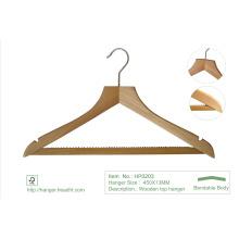 Vêtements en bois ordinaires naturels vêtement Laudry cintres