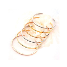 Bracelet Jewelry Packaging Cuff Stamped Bijoux Stainless Steel Bangle for Woman