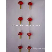 Cristal pour rideau, rideau en gros de perles à cristaux liquides, rideau de vente chaud