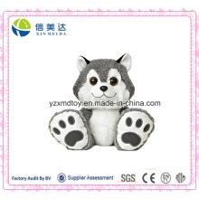 Big Toes Smile Husky Plüsch Stuffed Dog Spielzeug