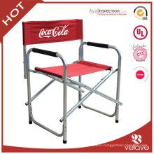 portable folding aluminum director chair