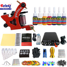 Solong TK105-67 Beginner Tattoo Kit with Tattoo Gun Power Supply Tattoo Kits With Needles