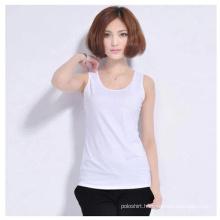 Women Wholesale Plain Cotton/Spandex Tank Tops/Vests/Singlet