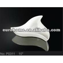 hotel supply porcelain triangle plates for home garden -eurohome P0311