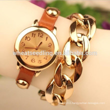Hot selling leather bracelet stock wholesale watch manufacturer