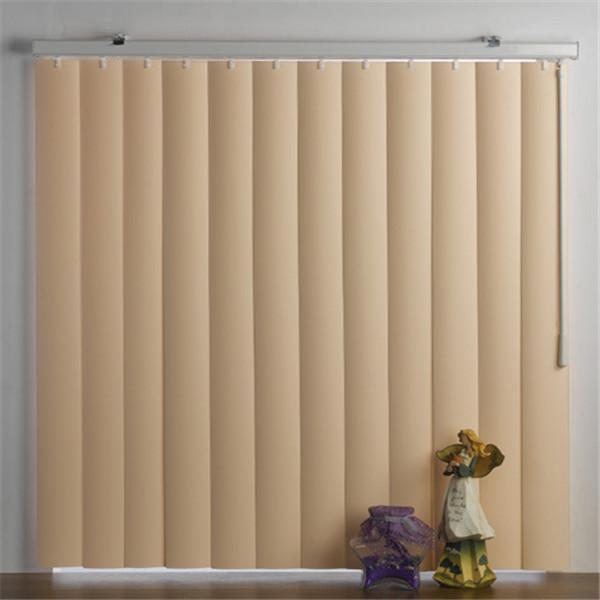 Faux-wood PVC vertical window blinds