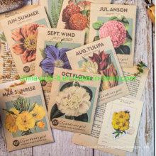 Garden Girl Series DIY Handbook Decorating Scrapbook Stickers