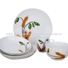 Graceful Stoneware 4-/5-piece Dinnerware Sets, Various Types of Colors and Designs are Available