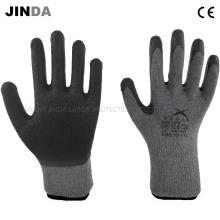 Латексные покрытые трикотажные пряжи Shell Safety Work Gloves (LS002)