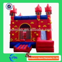 Высокое качество красного замка надувные bouncr надувные слайд комбо