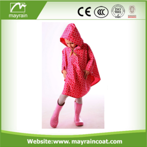 Poliestere Cartoon Kids Poncho Children Rain Cape