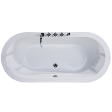 Cupc Oval Freestanding Bathtub with Faucet Mixer