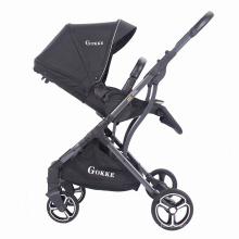 Poussette pliable pour bébé 2 en 1 pour enfants, poussette pour nouveau-né, poussette pour bébé, noir