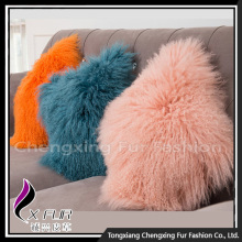 Nouveau Design Grand Canapé Mongolian Lamb Fur Cushions