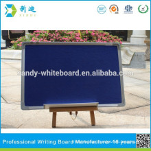 blue fabric display board with push pin