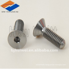 titanium countersunk head bolt