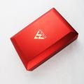 Caixa de jóias de plástico vermelho com luz LED