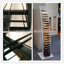 Exhibición de piedra modificada para requisitos particulares de la muestra del piso del metal Exhibición de la teja de piedra del granito de la exhibición para las tiendas o el salón de muestras