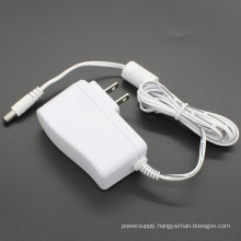 White 9W Switching Power Supply Power Adapter 9V1a AC/DC Adapter with USA Plug